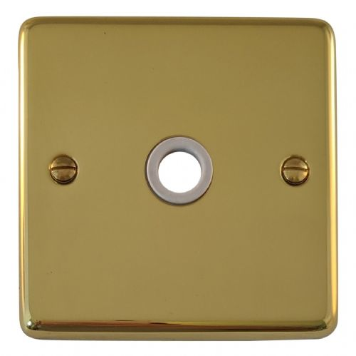 G&H CB79W Standard Plate Polished Brass 1 Gang Flex Outlet Plate